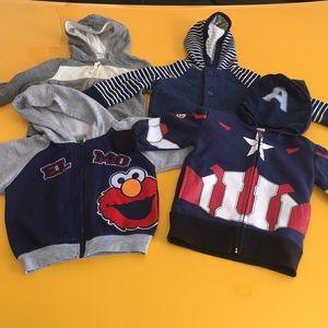 Bundle of 4 boy jackets